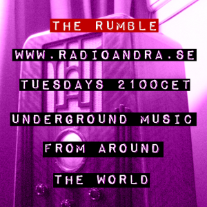 The Rumble ident purple