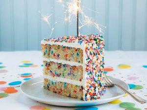 Cake and sparkler