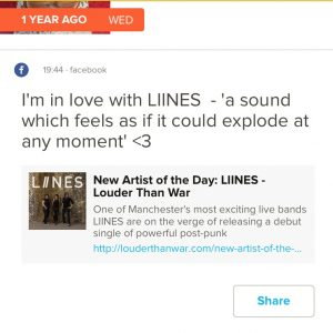 LIINES on LTW TimeHop