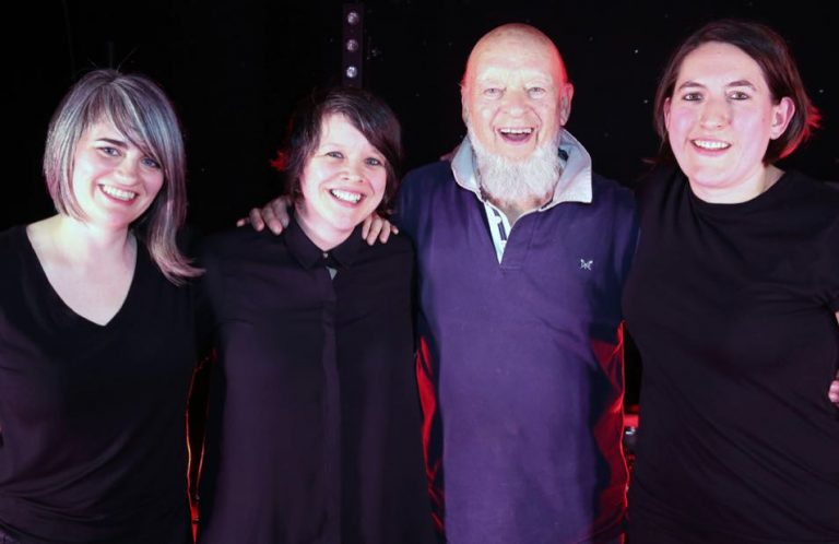 LIINES with Michael Eavis at Glastonbury Emerging Talent 2019 final  - by Jason Bryant